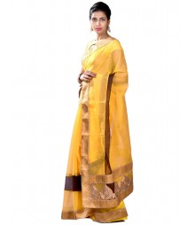 Yellow & Golden Dazzling Designer Collection Silk Saree MDL-S-SR1-023