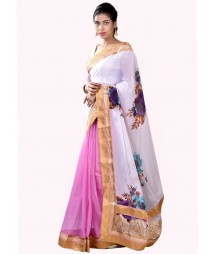 Charming White & Pink Designer Collection Saree MDL-S-SR1-024