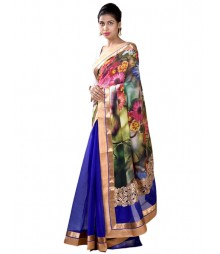 Royal Blue Designer Pure Silk Saree MDL-S-SR1-028