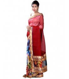 Brown & Blue Exclusive Designer Silk Saree MDL-S-SR1-029