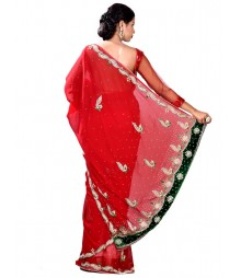 Exclusive Zardosi Red Color Saree MDL-S-SR1-035