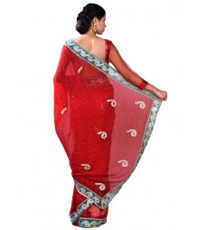 Exclusive Ravishing Zardosi Work Georgette Saree MDL-S-SR1-038