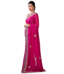 Magenta Color Dazzling Exclusive Zardosi Saree MDL-S-SR1-039