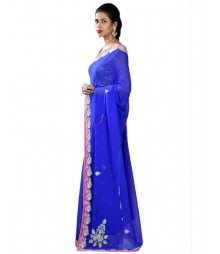 Royal Bluecolor Charming Exclusive Zardosi Saree MDL-S-SR1-040