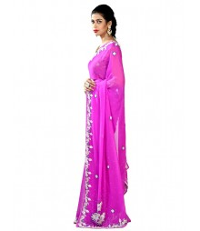 Magenta Ravishing Exclusive Zardosi Work Saree MDL-S-SR1-041