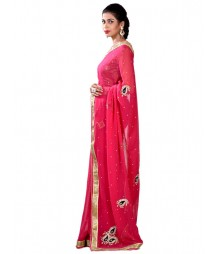 Gorgeous Zardosi Work Saree With Designer Blouse MDL-S-SR1-045