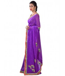 Exclusive Purple Color Designer Saree MDL-S-SR1-046