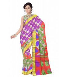 Multi Color Traditional Designer Silk Saree ODA013