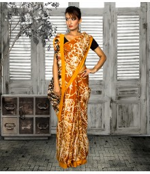 Yellow & Golden Colour Self Designer Saree TJA018