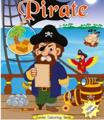 Buy Online Pirate Jumbo Colouring Book 58-6