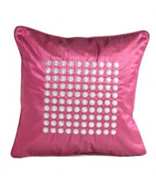 Embroided Filled Circles Cushion Covers Set of 5 VFCC-03