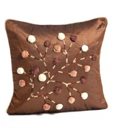 Embroided Circles Cushion Covers Set Of 5 Vfcc 06