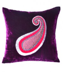 Peacock Embroided Leaf Cushion Cover Set of 5 VFCC-74