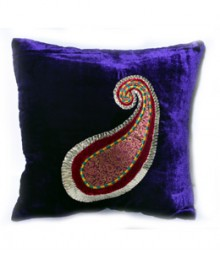 Peacock Embroided Leaf Cushion Cover Set of 5 VFCC-75