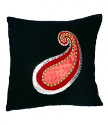Peacock Embroided Leaf Cushion Cover Set of 5 VFCC-78