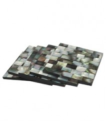 Square Coaster of Black Mother of Pearl OH-CBMOP44