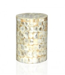 Round Box of White Mother of Pearl OH-CJRS