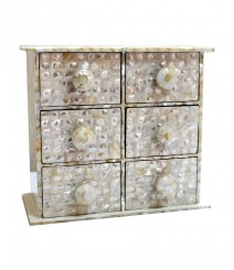 Chest of 6 Drawers of White Mother of Pearl OH-CODRS6