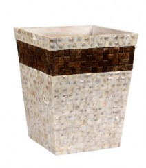 Dustbin of White Mother Pearl & Taadiwood OH-DBRST10