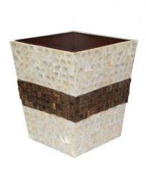 Dustbin of White Mother Pearl & Taadiwood OH-DBRST8