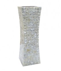 Flower Vase of White Mother of Pearl OH-FVRS12
