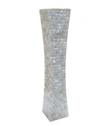 Flower Vase of White Mother of Pearl OH-FVRS24