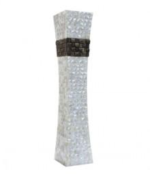 Flower Vase of White Mother of Pearl & TaadiWood Band OH-FVRSTB18