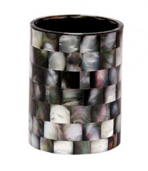 ToothBrusg Holder / Glass / Tumbler of Black Mother of Pearl OH-GBMOP