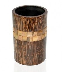 ToothBrusg Holder / Glass / Tumbler of Taadiwood & Bamboo OH-GTB