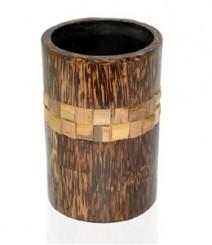 ToothBrusg Holder / Glass / Tumbler of Taadiwood & Bamboo OH-GTB