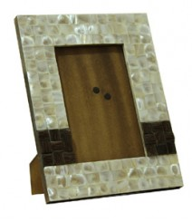 Photo Frame of White Mother of Pearl & TaadiWood OH-PFRS2T6X4