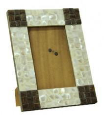 Photo Frame of White Mother of Pearl & TaadiWood OH-PFRS4T6X4