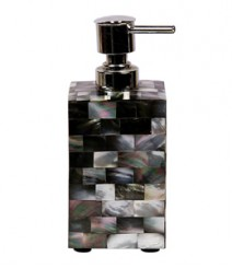 Soap Dispenser of Black Mother of Pearl OH-SDPBMOP