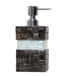 Soap Dispenser of Taadiwood & White Mother of Pearl Band OH-SDPTRSB