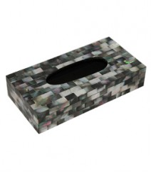 Tissue Box of Black Mother of Pearl OH-TBBMOP1052