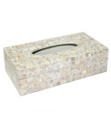 Tissue Box of White Mother of Pearl OH-TBRS1053