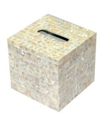 Tissue Box of White Mother of Pearl OH-TBRS666