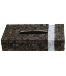 Tissue Box of TaadiWood & White Mother of Pearl OH-TBTRSB1052