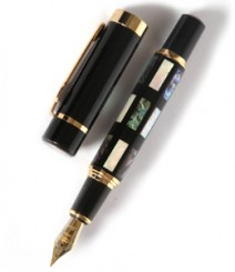 Deep Sea Bright Pearl Shell Fountain Pen PRJ007