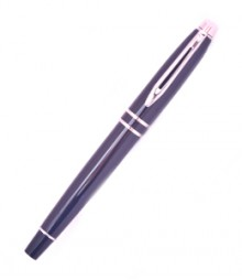 Oval Top Double Rings Silver Flip Roller Ball Pen PRJ01-10-029