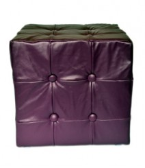 Buy Purple Togo Leatherette Pouf Online - IND-PF-001