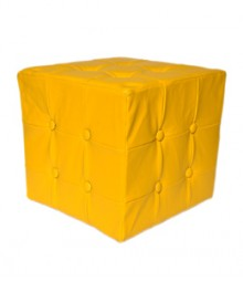Buy Yellow Togo Leatherette Pouf Online - IND-PF-002