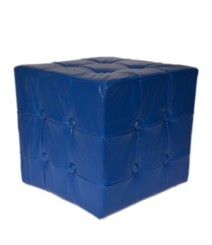 Buy Blue Togo Leatherette Pouf Online - IND-PF-004