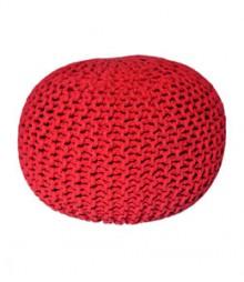 Buy Red Gola Cotton Pouf Online - IND-PF-006