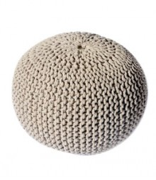Buy Ivory Gola Cotton Pouf Online - IND-PF-007