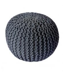 Buy Grey Gola Cotton Pouf Online - IND-PF-008
