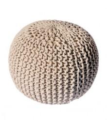 Buy Beige Gola Cotton Pouf Online - IND-PF-009