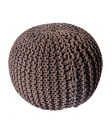 Buy Chocklate Gola Cotton Pouf Online - IND-PF-010