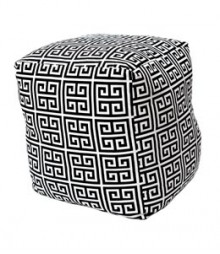 Buy Patterned Cotton Pouf Online - IND-PF-017