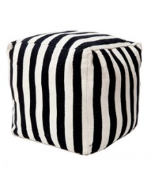Buy Small Stripes Cotton Pouf Online - IND-PF-020